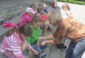 Мастер-класс от Ю.П. Долгановой (заведующая детским отделом): несколько способов создания венка
