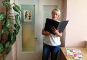 Библиотекарь отдела детской литературы С. М. Бабина проводит книжный аукцион «Яркие впечатления»»
