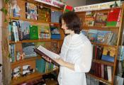 Библиографический обзор литературы о спорте проводит библиотекарь отдела детской литературы Наталья Типанова