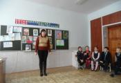 Библиотекарь Светлана Ершова познакомила ребят с биографией и творчеством А. С. Пушкина