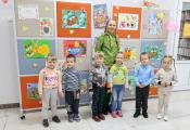 Наталья Прокофьева с воспитанниками ГУО «Ясли-сад № 78 г. Витебска»