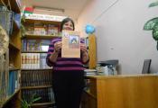 Библиотекарь Светлана Ершова знакомит школьников с биографией и творчеством С. Аксакова