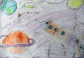 «На уроке астрономии». Киселёв Никита. 5 «Г» класс, ГУО «СШ № 46 г. Витебска»