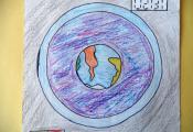 «Земля в иллюминаторе». Долганова Анна. 6 «Д» класс, ГУО «СШ № 40 г. Витебска»