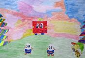 «Happy в волшебном лесу». Алексеева Полина. 4 «Б» класс, ГУО «СШ № 25 г. Витебска»